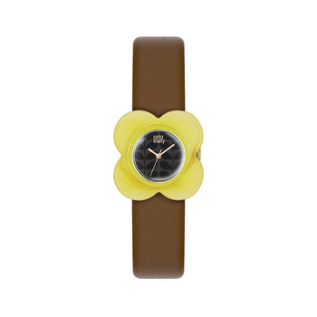 Ladies Poppy Watch - Brown/Yellow