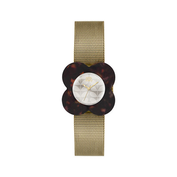 Ladies Poppy Gold Watch - Tortoise