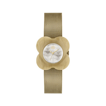 Ladies Poppy Gold Watch - Beige