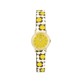 Flower Pop Watch - Yellow/Brown