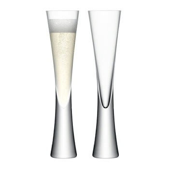 Moya Champagne Flutes - Set of 2 - Clear