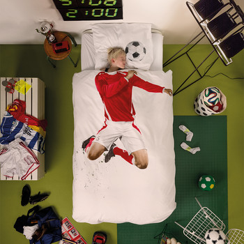 Football Champ Single Duvet Set - Red