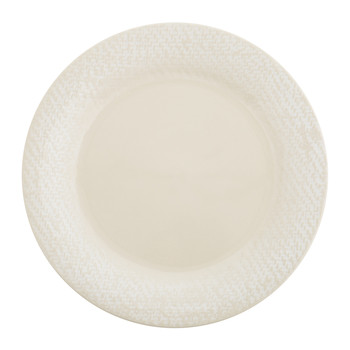 Dalton Stoneware Cream Dinner Plate