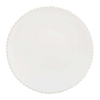 Luis Stoneware Serving Plate - White