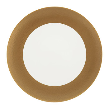 Port Cros Golden Porcelain Dinner Plate