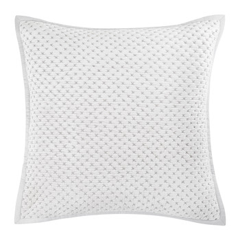 Collins Velvet Cushion - 60x60cm - Silver