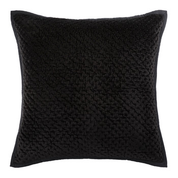 Collins Velvet Cushion - 60x60cm - Black