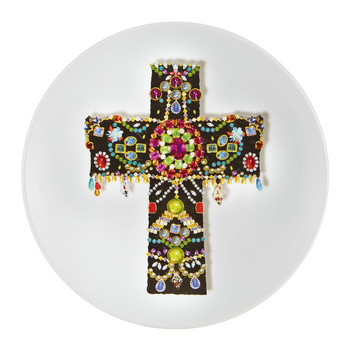 Love Who You Want - 'Black Cross' Plate