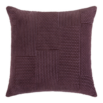 Wimpole Cotton Velvet Cushion - 45x45cm - Aubergine