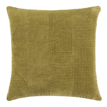 Wimpole Cotton Velvet Cushion - 45x45cm - Moss