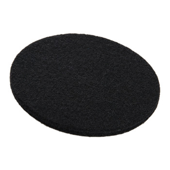 Merino Wool Round Coasters - Set of 4 - Coal Black