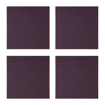 Elston Recycled Leather Coasters - Set of 4 - Aubergine