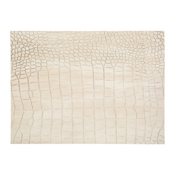 Gator Recycled Leather Placemat - Ivory