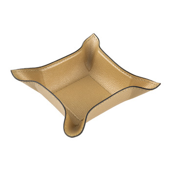 Monte Carlo Leather Trinket Tray - Gold Golf