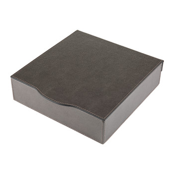 Park Ridge Leather Trinket Box - Titanium Golf