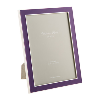 Purple Enamel Photo Frame