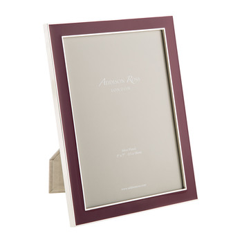 Plum Enamel Photo Frame