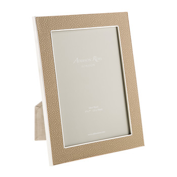 Sand Faux Shagreen Photo Frame