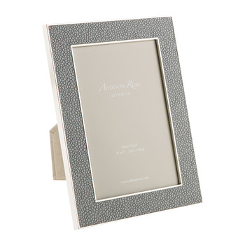 Grey Faux Shagreen Photo Frame