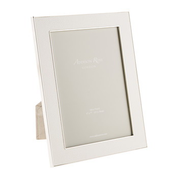 White Faux Snake Photo Frame