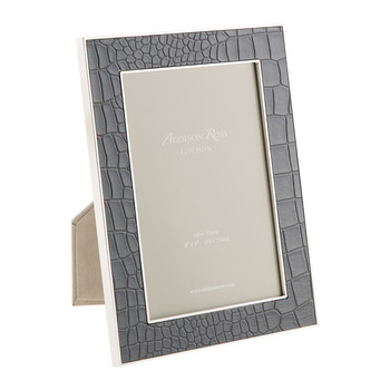Dove Faux Croc Photo Frame