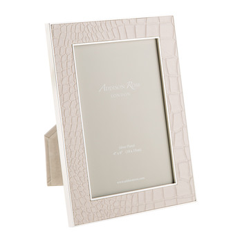 Cream Faux Croc Photo Frame