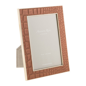 Camel Faux Croc Photo Frame