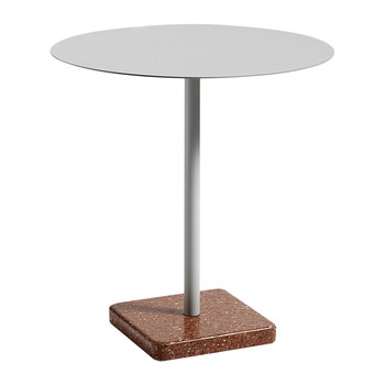 Terrazzo Round Table - Red/Gray