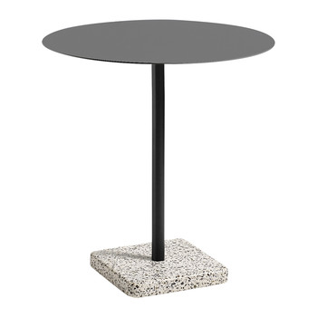 Terrazzo Round Table - Gray/Charcoal