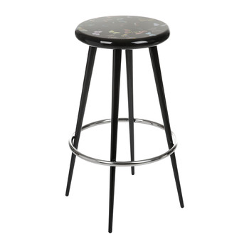 Farfalle Bar Stool - Black