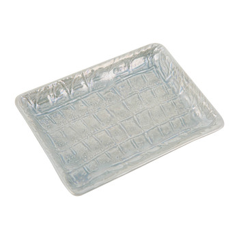 Alligator Soap Dish - Pearl Gray
