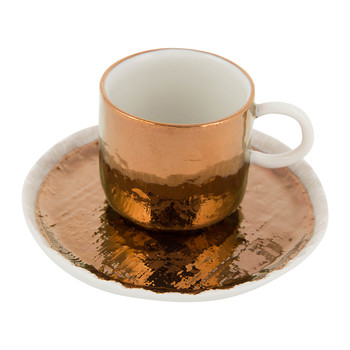 Capri Coffee Cup & Saucer - Bronze