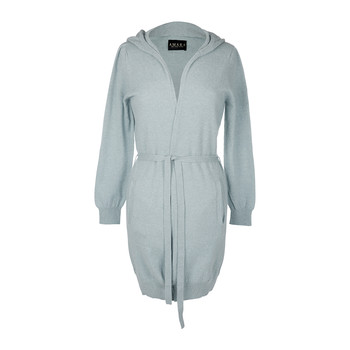 Leven Cashmere Hooded Cardigan - Sea Spray
