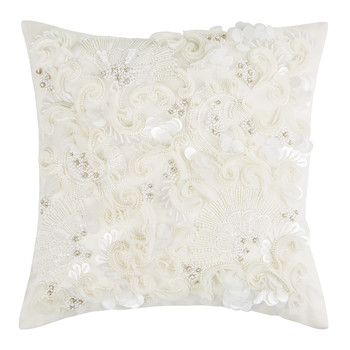 Lune Embellished Linen Pillow - 30x30cm