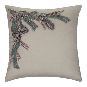 Alyn Embellished Linen Cushion - 40x40cm