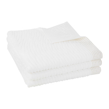 Avignon 500gsm Towel - White & Gold