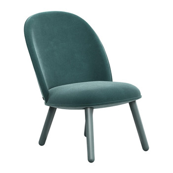 Ace Lounge Chair Velour - Lake Blue