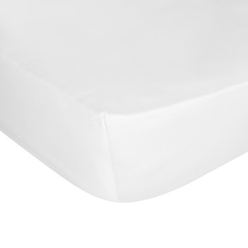 Cotton Sateen 300 Thread Count Fitted Sheet - White
