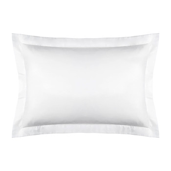 Cotton Sateen 300 Thread Count Pillowcase - White - Oxford