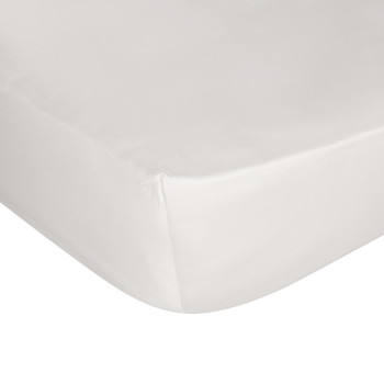 Cotton Sateen 300 Thread Count Fitted Sheet - Ivory