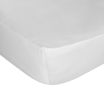 Cotton Sateen 300 Thread Count Fitted Sheet - Silver