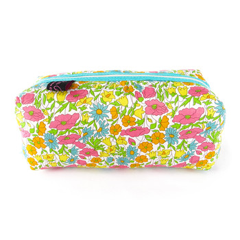 Fabric Cosmetic Bag - Liberty Poppy and Daisy Yellow