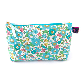 Cosmetic Bag - Liberty Betsy Turquoise