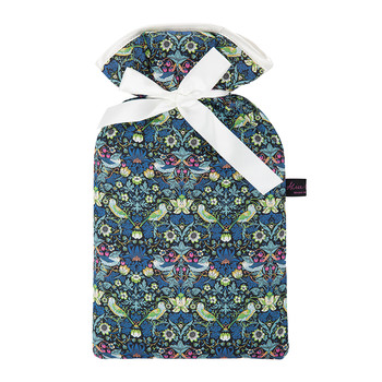 Hot Water Bottle - Liberty Strawberry Thief Blue