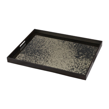 Heavy Aged Bronze Mirror Tray - Rectangular