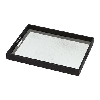 Light Aged Clear Mirror Tray - Rectangular - Small