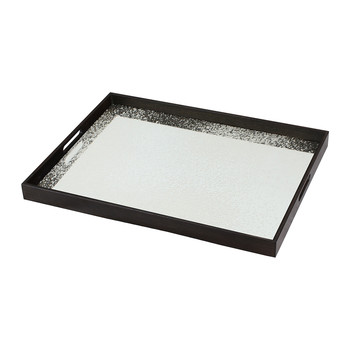 Frost Heavy Aged Mirror Tray - Rectangular