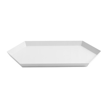 Kaleido Hexagon Tray - Medium - White