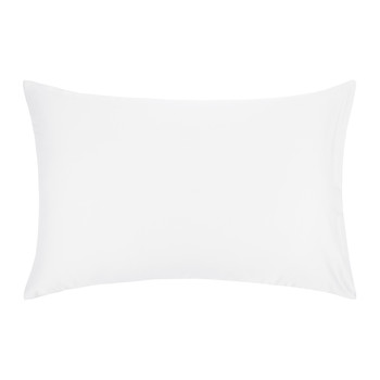 Cotton Sateen 300 Thread Count Pillowcase - White - Housewife