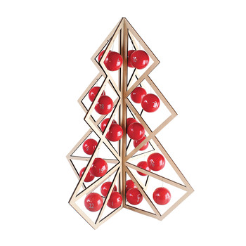Tree24 Wooden Christmas Calendar - Red